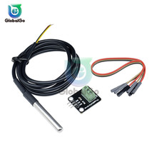 1 комплект DS18B20 Температура Сенсор модуль комплект Водонепроницаемый 100 см Цифровой Сенсор кабель Зонд из нержавеющей стали терминальный адаптер