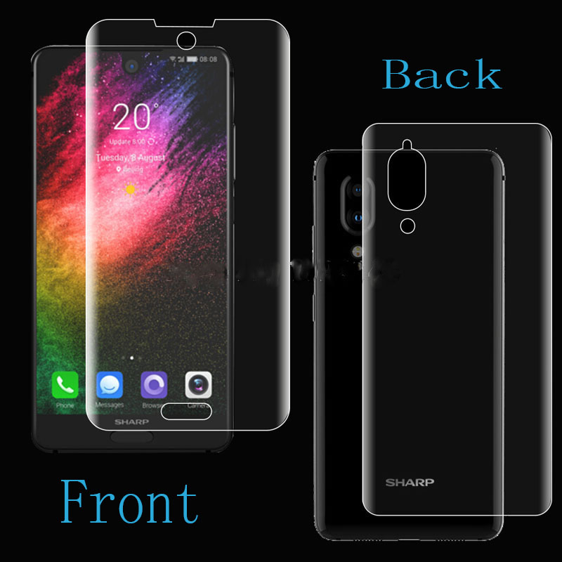 not Tempered Glass Back Full Coverage Clear Soft Tpu Film Screen Protector For Sharp Aquos S2 Cover Curved Parts To Prevent And Cure Diseases Sporting 2pcs Front