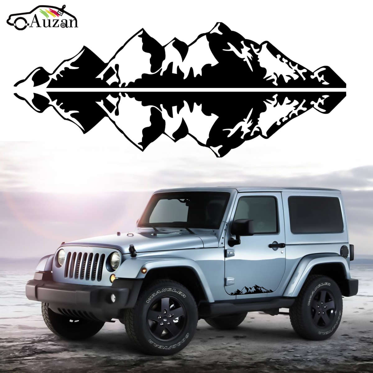 online buy wholesale jeep mountain decal from china jeep. Black Bedroom Furniture Sets. Home Design Ideas