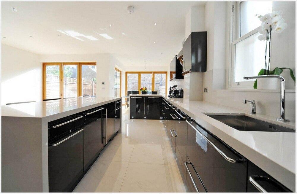 2017 furniture for kitchen white lacquer modular kitchen cabinets ...