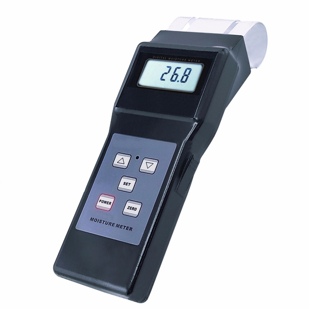 Handheld Digital Electromagnetic Search Type Inductive Wood Moisture Meter Tester Equipment No destruction 0 - 80% Range digital inductive wood moisture meter redwood timber range 0 100%