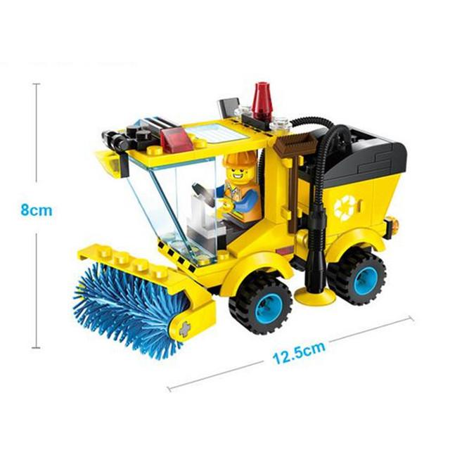 102pcs/set Sweeper Model Assembly Building Blocks Kit Toy