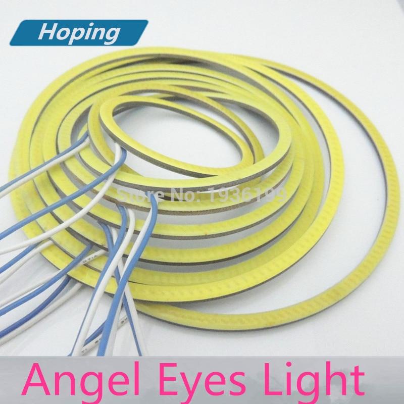 Berharap Mobil led COB Angel Eyes 130mm COB Halo Cincin styling mobil - Lampu mobil - Foto 2