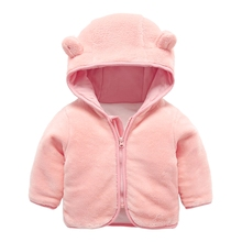 Winter Baby Boys Down Parkas Clothing Solid Hooded Thicken Tops Coats Children Girls Cotton Outwear For 1-3t Baby Clothes 4dp017