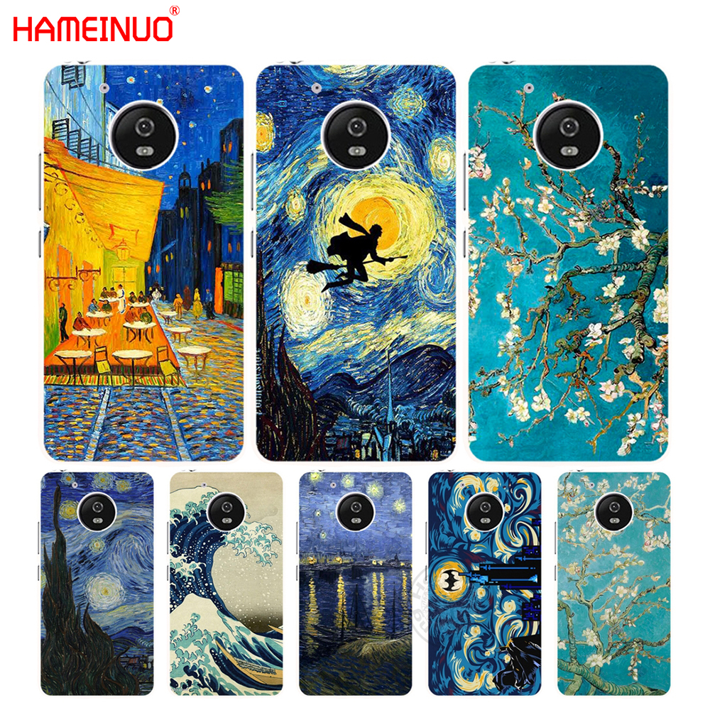 HAMEINUO Vincent Van Gogh Starry Sky Oil case cover for Motorola Moto G6 G5 G5S G4 PLAY PLUS ZUK Z2 pro