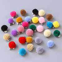 1 Pair Kids Pom Pom Ear Clip Plush Ball Kid Girls Children Clip No Piercing Earrings Jewelry