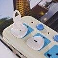 Retail Bebé Niño Eléctrico del Zócalo eléctrico de Seguridad De Plástico Cubierta de Cierre de Seguridad plug 5 unids 10-017