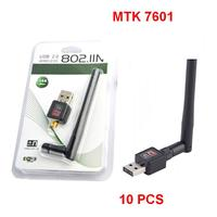 10pcs A Lot MTK7601 Chipset 150Mbps Usb Wifi Wireless Adapter Mini Network Card Adapter With Retail