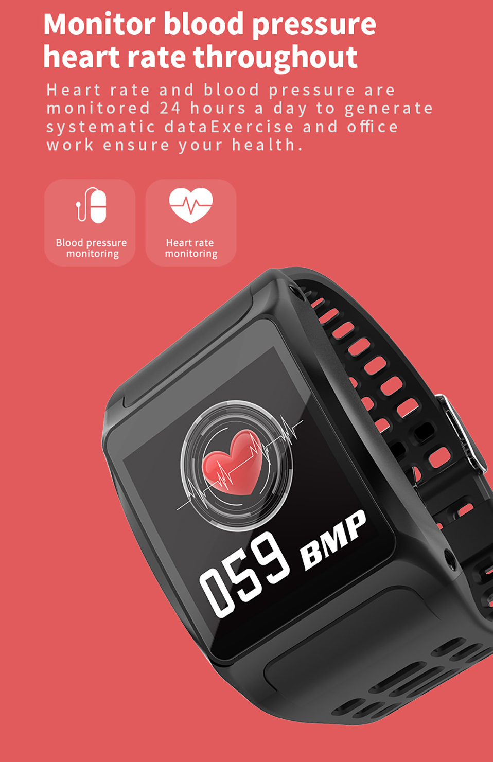 ALANGDUO Z01 Smart Watch Color Screen Smart Wristwatch Big Dials Heart Rate Monitor Micro sensor Waterproof Smart Watch Bracelet (7)
