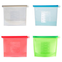 Silicone Food Storage Bag Food Safety Grade Preservation Container for Vege