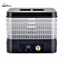 5 Trays Food Fruit Dehydrator Drying Fruit Machine Home Food Dryer Dehydrator With Timing Function And