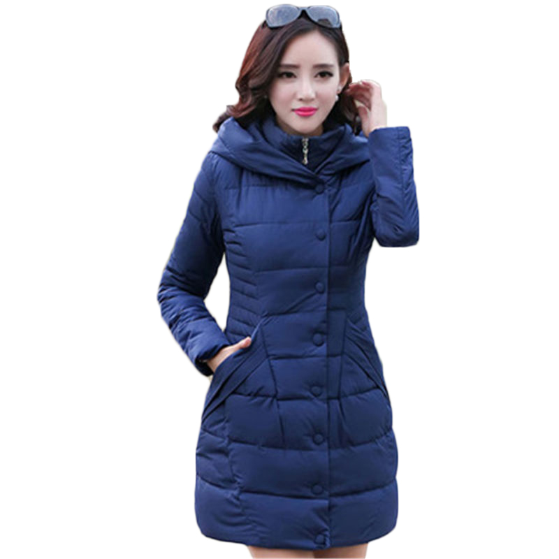 New Style Thicken Winter Woman Jacket Coat Stand Collar Hooded Slim Cotton Coat Mid-long Elegant Overcoat 3XL SS510 for epson 4880 damper for epson 4880 7800 9600 4000 4400 4800 7400 9400 9800 4450 7450 7880 9450 9880 printer ink damper