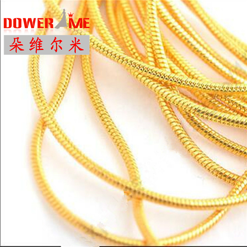 "Cubierto de oro 18KG CHAIN 30"" 5pcs 18KG Yellow Gold Filled snake chains Jewelry Flat Curb Necklace Sets Chains Necklace Sets"