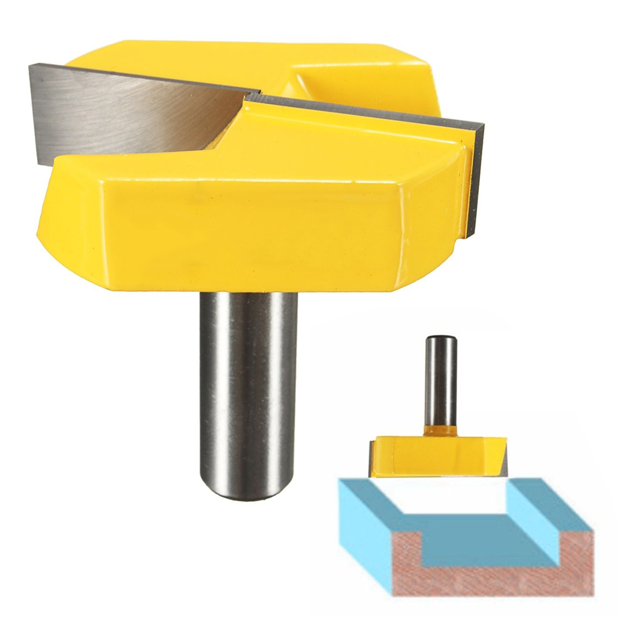 Strong 1/2 Shank 2-1/4 Diameter Bottom Cleaning Router Bit Mayitr Woodworking Router Bits Milling Cutter for MDF Solid Wood mayitr woodworking cutter bit 1 2 shank engraving molding router bit shaker for wood milling cutter