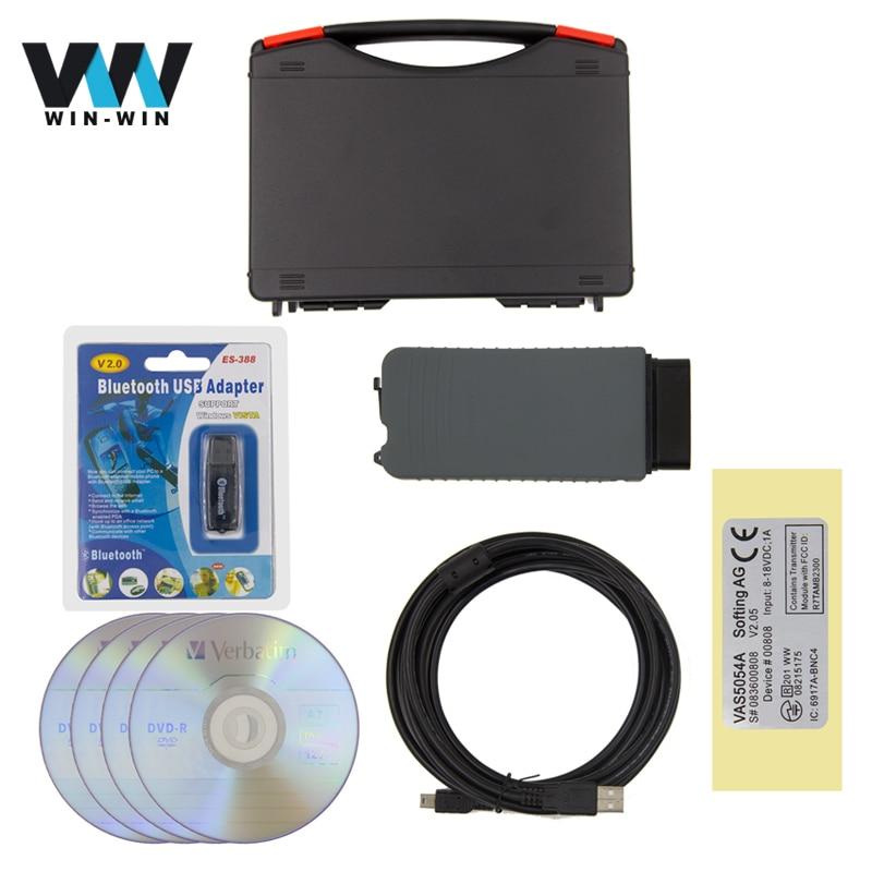 imágenes para Alta Calidad VAS 5054A Bluetooth VAS5054A ODIS V4.0.0 con OKI Chip Completo 4.0.0/3.0.3 Protocolo UDS Apoyo Herramienta de Diagnóstico