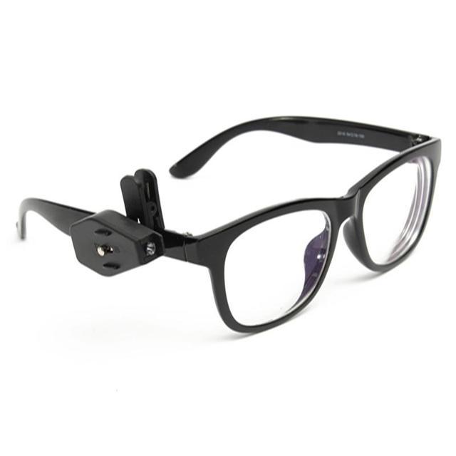 75e369c91d2 Portable Eyeglass Clip LED Adjustable Mini LED Reading Light Flexible Book  Lamp Multi Bulbs For Glasses