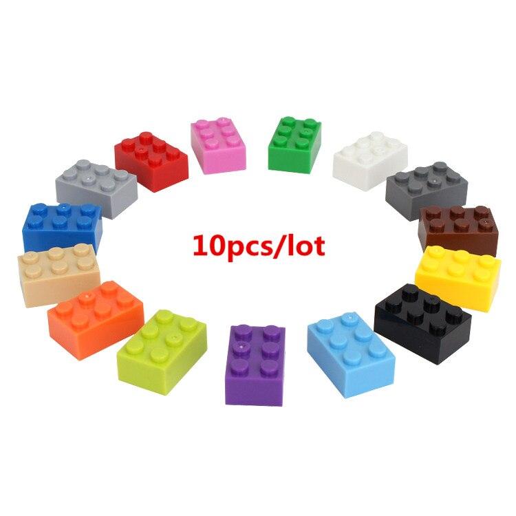 10 Teile/los 2*3 Diy Gebäude Block Dicken Bricks Kompatibel Mit Legoe Pädagogisches Spielzeug Multicolor Geschenk Für Kinder Farben Sind AuffäLlig