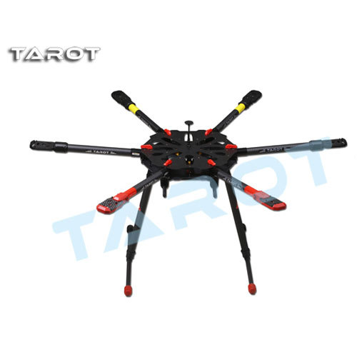 Tarot X6 Hexacopter TL6X001 Umbrella Folding Arm w/ Electronic Landing Gear for FPV Photography tarot rc 75 degree all metal cnc large scale electric retractable landing gear skid tripod load 30kg tarot tl4n004 diy drone