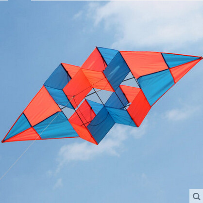 New High Quality Outdoor Fun Multi color 75 inch Power 3D Kite With Handle Line Good