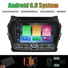 Android 6.0 Octa-core DVD PLAYER DO CARRO para HYUNDAI Santa Fe ix45 2013 Carro Radio RDS WIFI 2G RAM 32 GB Inand Flash (sem canbus)