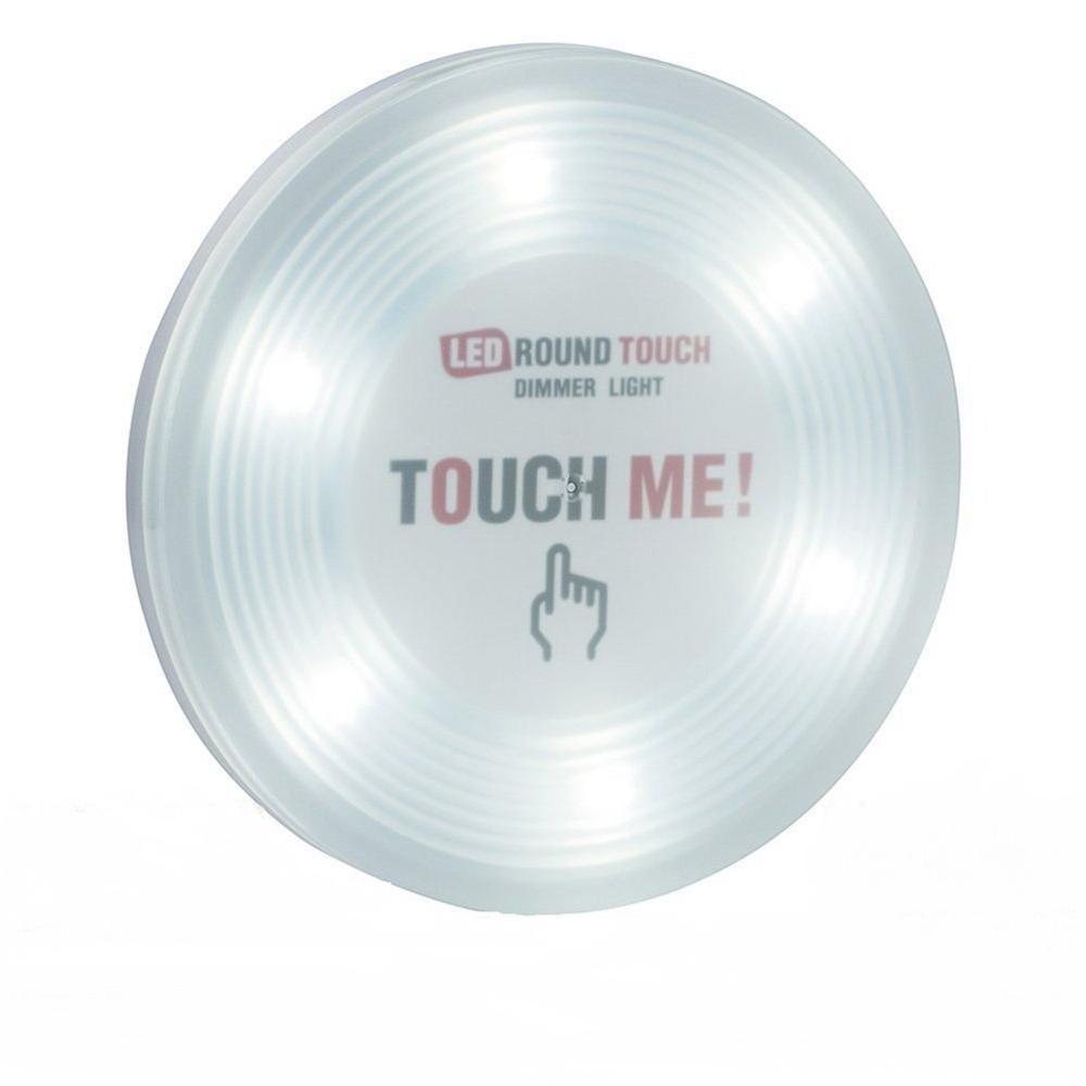 Grande tamanho 6 led regulável sensor de toque luz operado por bateria vara em qualquer lugar torneira push light para armários porão do armário