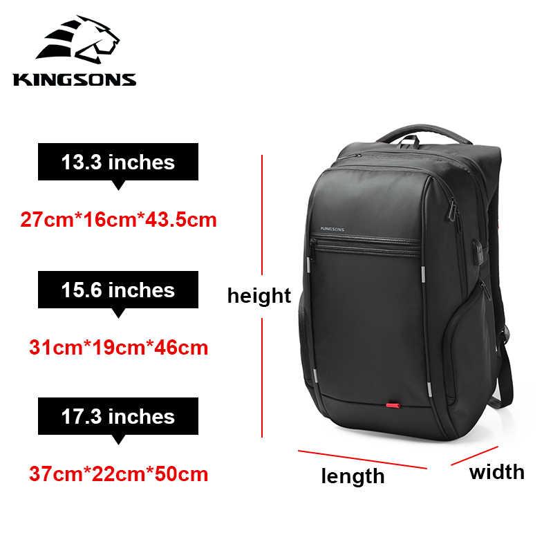KINGSONS 2019 nuevos hombres mujeres 12 13 14 15 17 pulgadas Laptop moda ropa de mochila resistente al ocio de negocios viaje estudiante mochila
