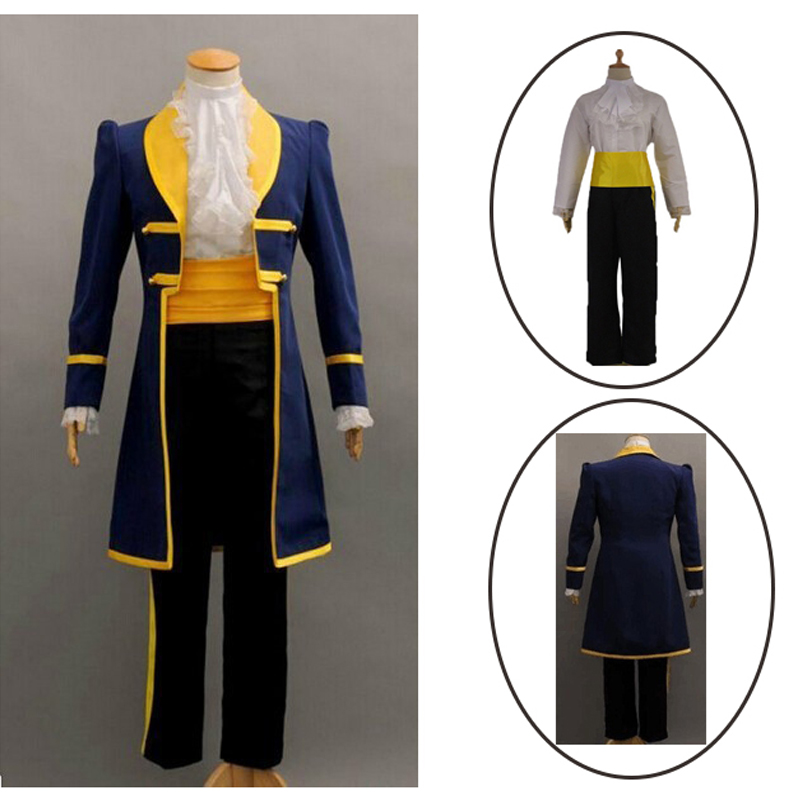 2018 New Adult Beauty and the Beast Belle Prince Adam Cosplay Costume For Men Holiday Dress