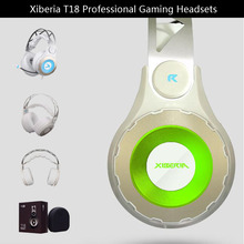 Xiberia T18 Gaming Headphones with Microphone 7.1 Encompass Sound Recreation Headsets Earphones Glowing LED Mild USB for PC Laptop