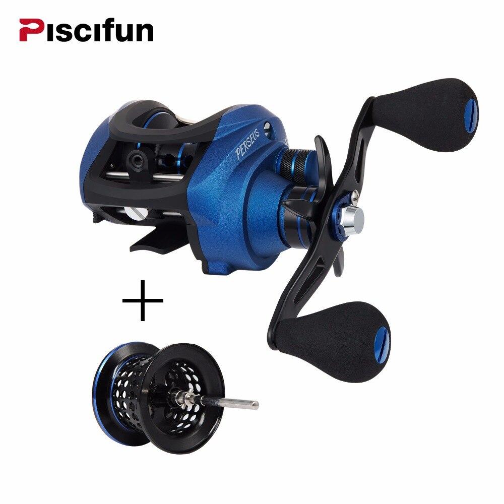 Piscifun Perseus Fishing Reel Extra spool 8.4KG Max Drag Magnetic brake+centrifugal brake Light fishing Baitcasting reel