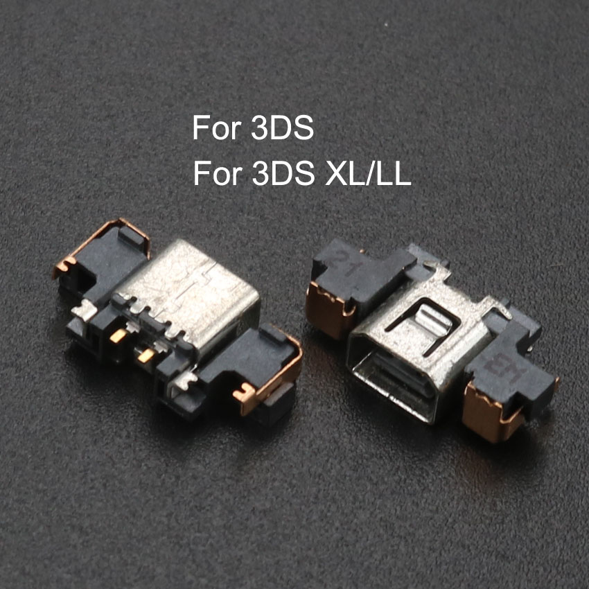 YuXi Power Jack socket dock connector charger charging port repair part For 3DS For New 3DS XL LL in Replacement Parts Accessories from Consumer Electronics