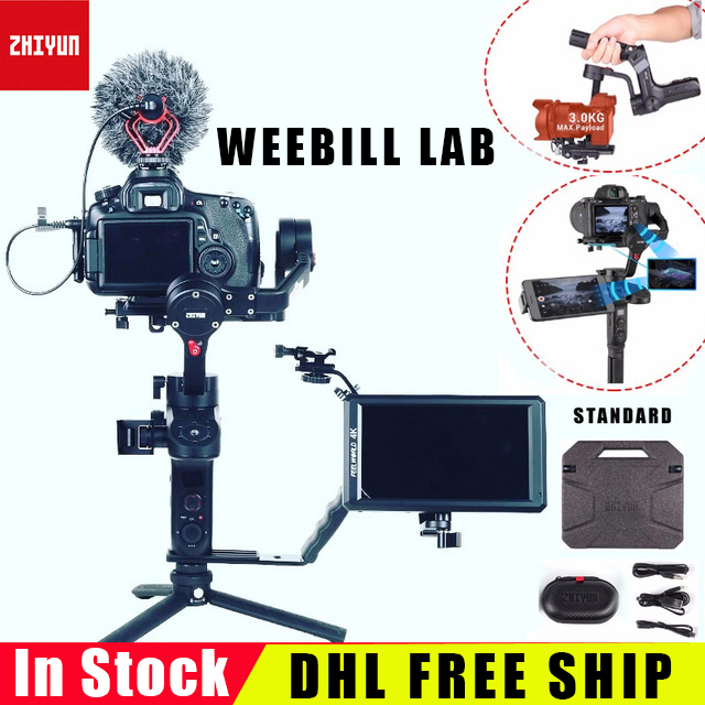 INSTOCK ZHIYUN WEEBILL LAB 3 Axis Gimbal for Mirrorless Camera Handheld Stabilizer Gimbals vs DJI Ronin