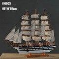 """1 pcs 24 """"Classical. Ver Artesanal de madeira modelo barco à vela de estilo Mediterrânico para a coleção via transporte do EMS."""