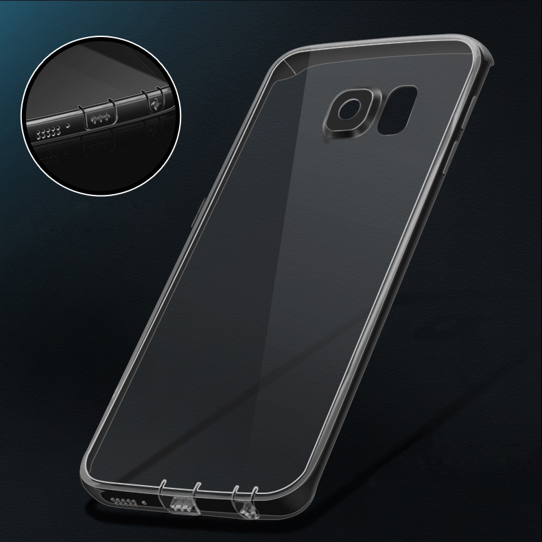 <font><b>Case</b></font> for <font><b>Samsung</b></font> Galaxy <font><b>S7</b></font> <font><b>EDGE</b></font> <font><b>Cases</b></font> S7edge s10 plus lite j4 j6 <font><b>Silicone</b></font> TPU Transparent Soft Cover Slim UltraThin + Dust Plug image