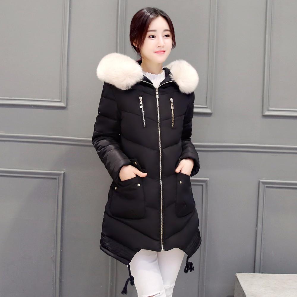 2016 Winter Jacket Women Hooded Thick Coat For Womens Winter Jackets Outwear Parka Coatscasacos De Inverno Feminino Manteau