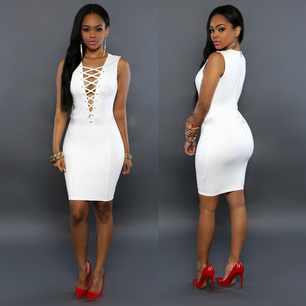 All White Club Dresses