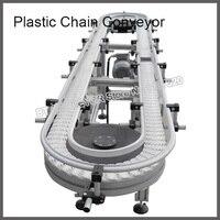 Пластиковая цепная конвейерная линия, модульные конвейерные ленты, пластиковый шкив привода, подшипник и сиденье, пластиковая прокладка, д