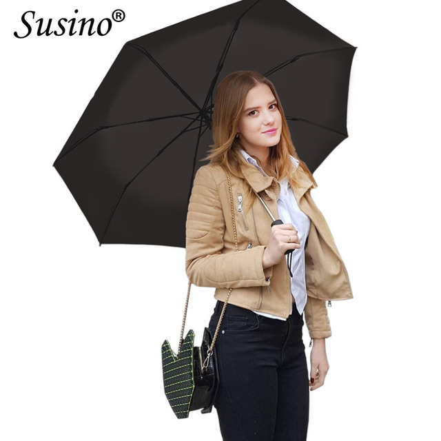 Susino Umbrellas Auto Open & Close Sturty Windproof Umbrella Metal Pongee Compact Waterproof Travel Umbrella S3511pm