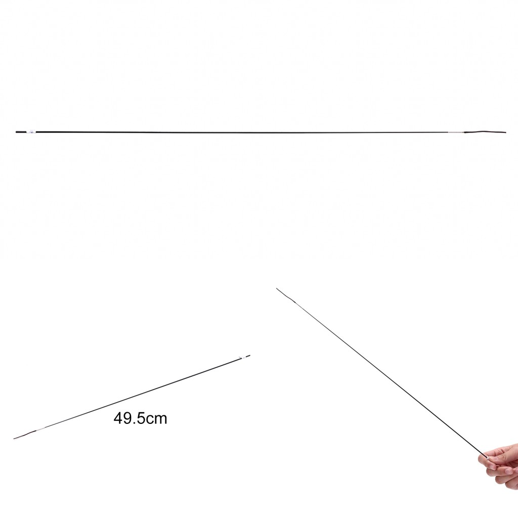 2019 New Durable Fishing Rod Spare Tips Solid And Hollow Carbon 45cm 1 Interval Fishing Rod Accessories