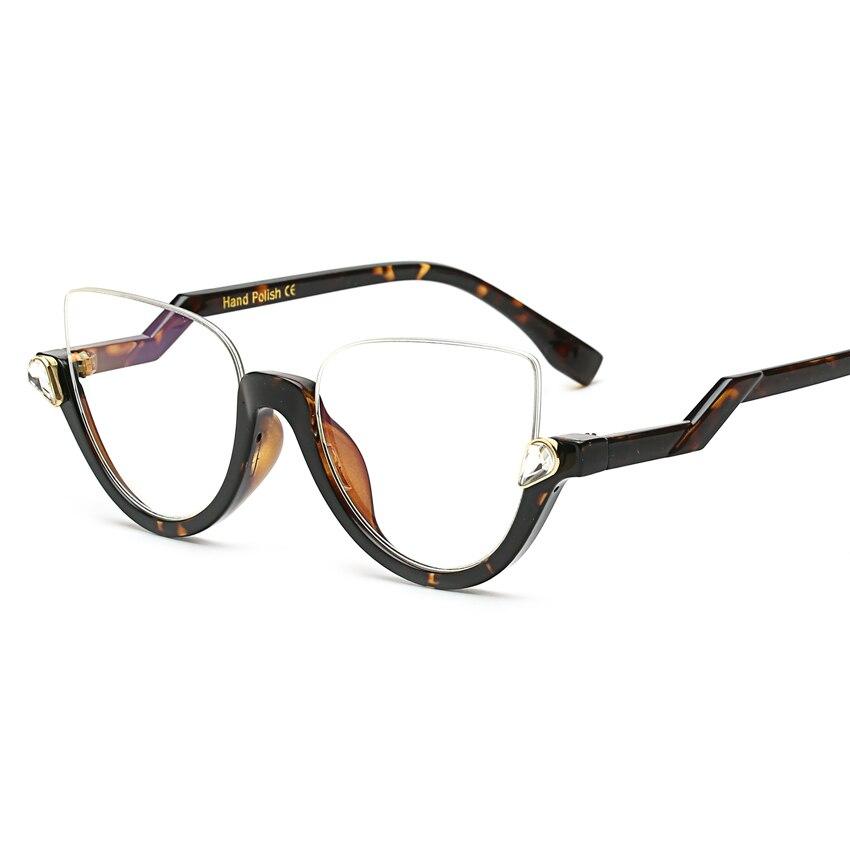 various styles cheap prices new design half frame cat eye ...