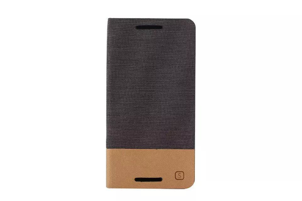 50pcs HYYGEDeal Phone cases Canvas line Hit Color Flip Wallet ID Card Stand Holder Leather Cover for HTC M7 M9 M10