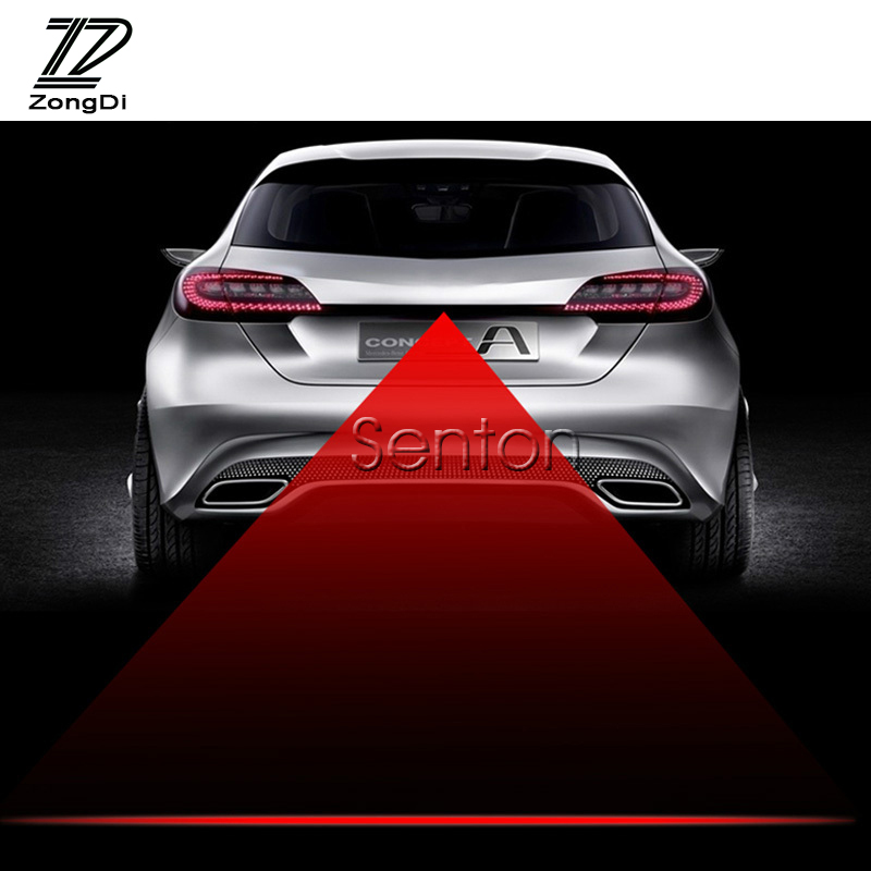 12V Warning Anti Collision Car Laser Tail Fog Light <font><b>LED</b></font> for VW Golf 4 7 5 MK4 Mazda 6 cx-5 CX-7 <font><b>Peugeot</b></font> 206 207 <font><b>208</b></font> 508 Touareg image