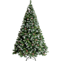 120/150/180/210 см Искусственный цветок Рождественская елка шишка Снежинка Рождество Пластик дерево Новый год Navidad украшения для дома