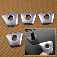 CITALL 4PCS set ABS Chrome Plated Car font b Interior b font Door Lock Pin Knob