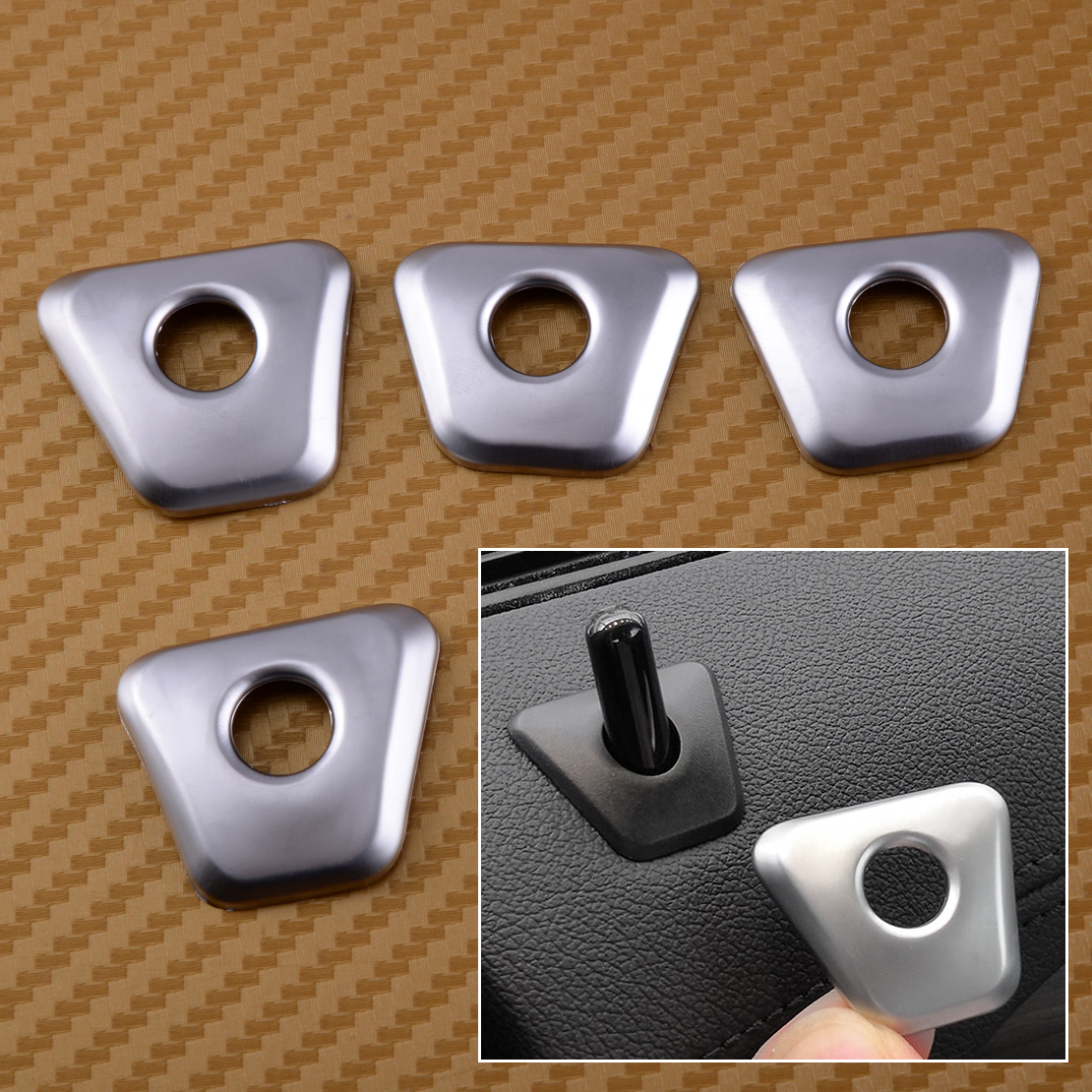 CITALL 4PCS set ABS Chrome Plated font b Car b font font b Interior b font