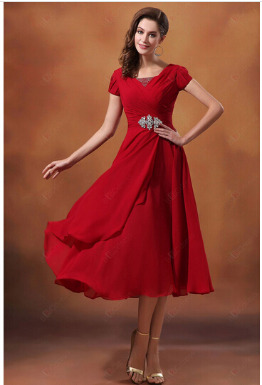 Online Buy Wholesale red short bridesmaid dresses from China red ...