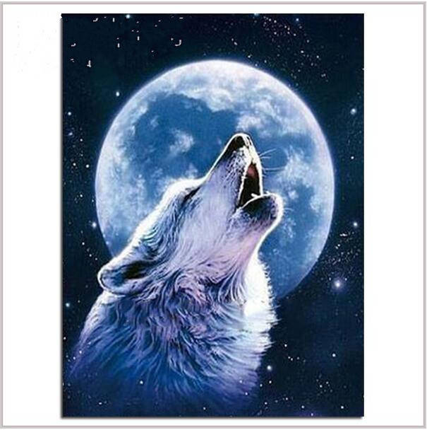 New full Diamond mosaic diamond embroidery beads Celestial Wolf Moon Dream diamonds cross stitch oil painting Inlay handwork