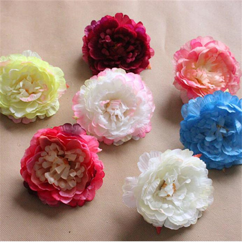 20pcs artificial silk flowers peony heads for wedding decoration 20pcs artificial silk flowers peony heads for wedding decoration hair accessories wedding car decoration fake flower junglespirit Gallery