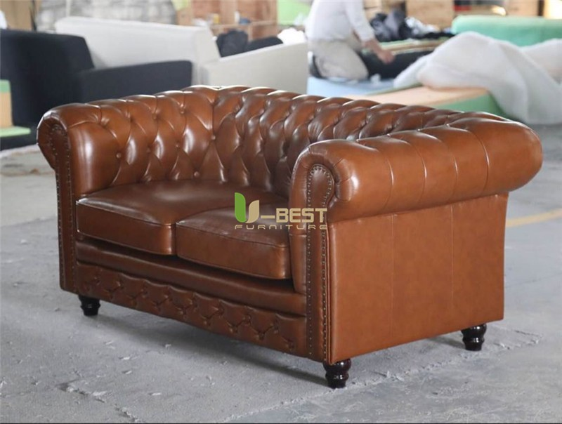 chestersfield sofa real leather sofa  (2)