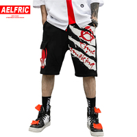 AELFRIC Summer Short for Men Cargo Short Joggers Hip Hop Skateboard Active Shorts Male Cotton Casual Streetwear Shorts AP16