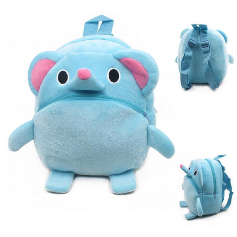 New Arrival Cute Baby Elephant Cartoon Plush Children Backpacks Kids School Bags Christmas Gifts